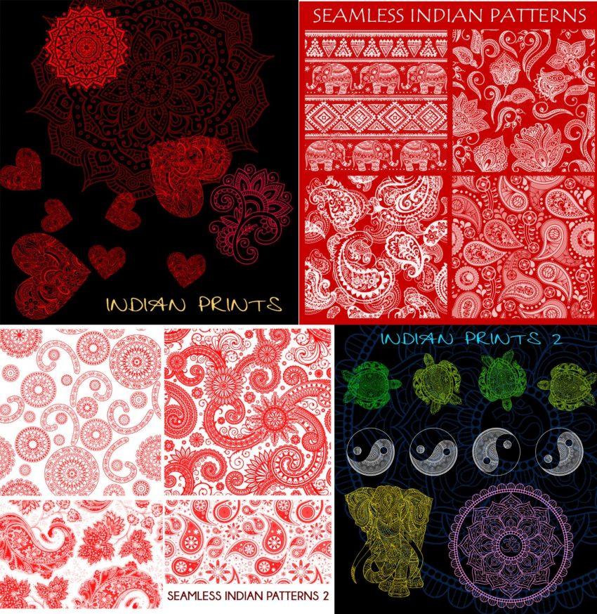 Indian Paisley Patterns Photoshop Brushes