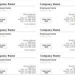 Screenshot of the Business Card Template