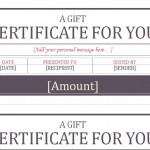 Screenshot of the Gift Certificate Template