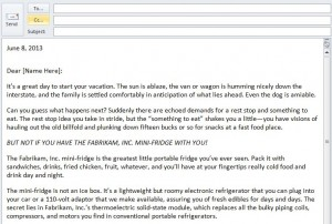 Outlook Email Template screenshot