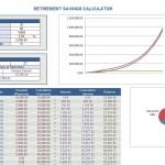 Screenshot of the Retirement Savings Calculator.