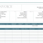 Screenshot of the Sales Invoice Template