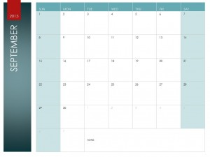 September Calendar screenshot