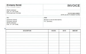 Screenshot of the Service Invoice Template
