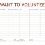 Screenshot of the volunteer sign up sheet