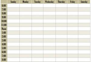 Weekly Schedule Template screenshot