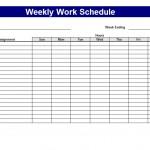 Work Schedule Template screenshot.
