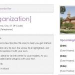 Screenshot of the preschool newsletter template