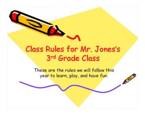 The Classroom Rules Template