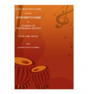 Concert Invitation Template photo