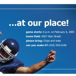 Screenshot of the Football Party Invitations