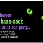Screenshot of the free Halloween Party Invitations