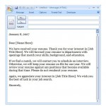 Interview Confirmation Email Template screenshot