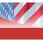 American Flag Template photo