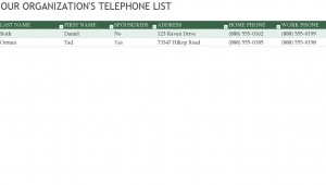 Employee Phone List screenshot