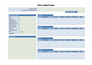 Free Exercise Planner