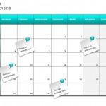 Screenshot of the Project Planning Calendar