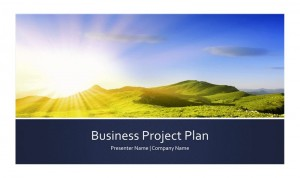 Screenshot of the Project Proposal Template