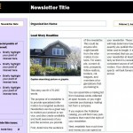 Free Real Estate Newsletter template