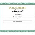 Scholarship Award Template photo