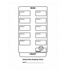 Free School Bus Seating Chart