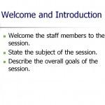 Screenshot of the Staff Training Plan Template