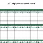 Vacation Schedule Template screenshot.