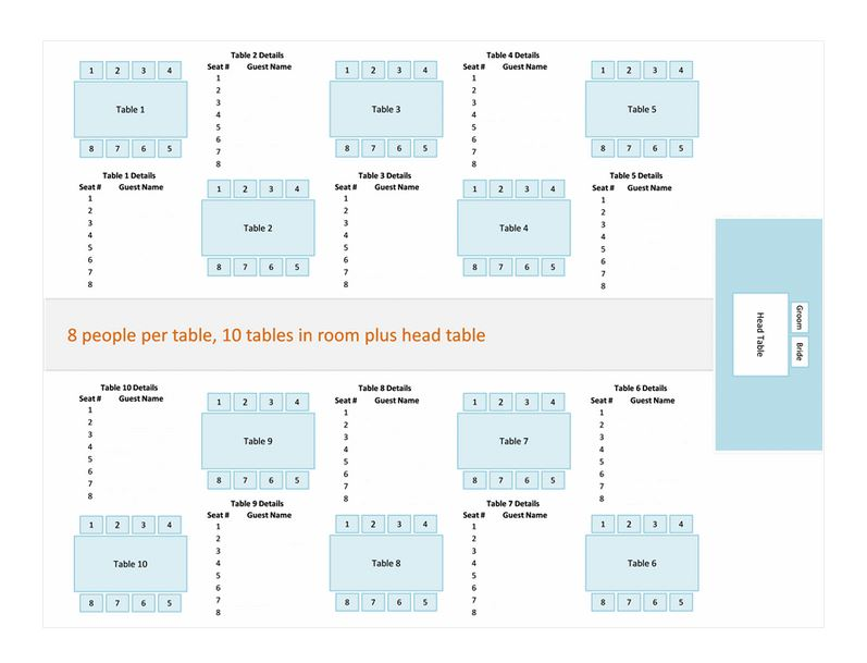 Wedding Reception Seating Chart Template Haven
