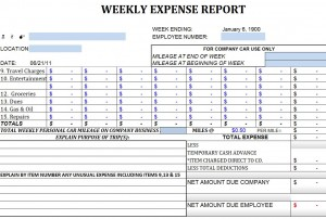 Weekly Expense Report Template | Weekly Expense Report ...