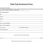 Free Field Trip Permission Form