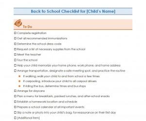 Free Back to School Checklist