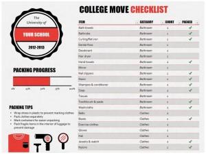 College Moving Checklist Free