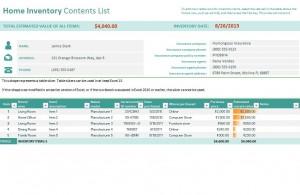 Home Inventory Checklist Free