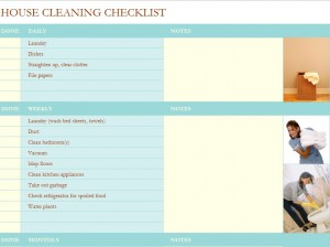 Free House Cleaning Checklist