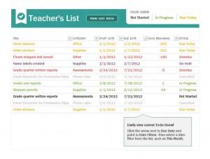 Free Teacher Checklist
