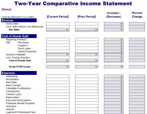 Free Comparative Income Statement