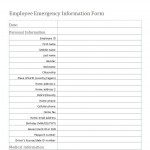 Free Emergency Medical Information Form