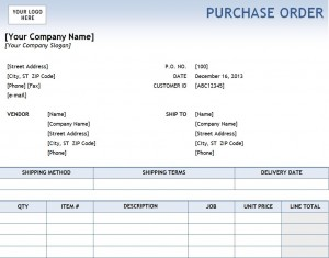 Excel Purchase Order Template Free