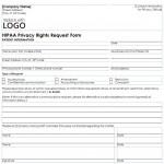 HIPAA Privacy Form free