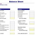 Simple Balance Sheet Template Free