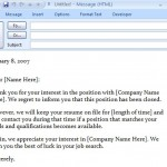 Thank You Interview Email Template Free