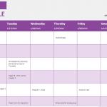 Student Weekly Schedule