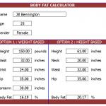 Body Fat Percentage Calculator Template