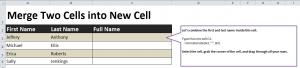Combining Names in Excel