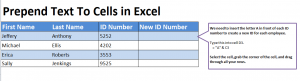 Tutorial: Prepend Text in Excel