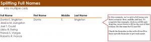 Splitting Names in Excel