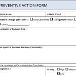 Project Preventive Action Form