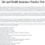 Life and Health Insurance Practice Test