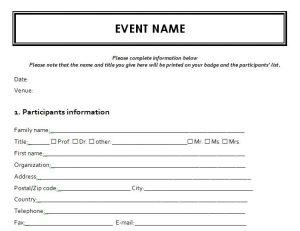Event Registration Form