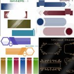 Banner and Frame Photoshop Brush Templates